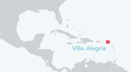 Anguilla map of villa