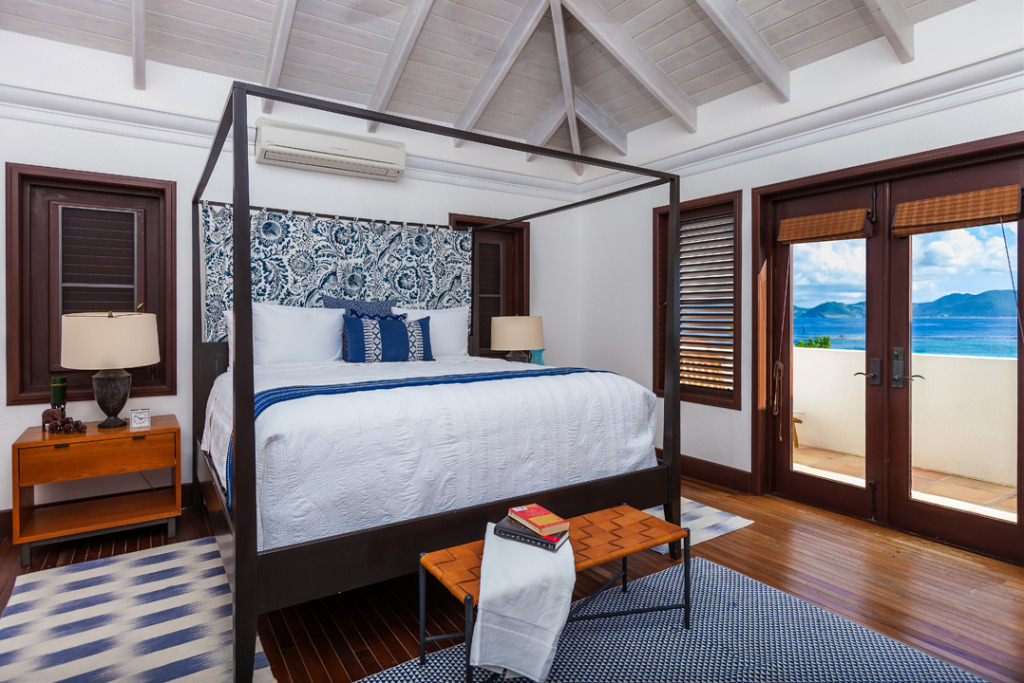 Anguilla hotels alternatives Alegria blue bedroom