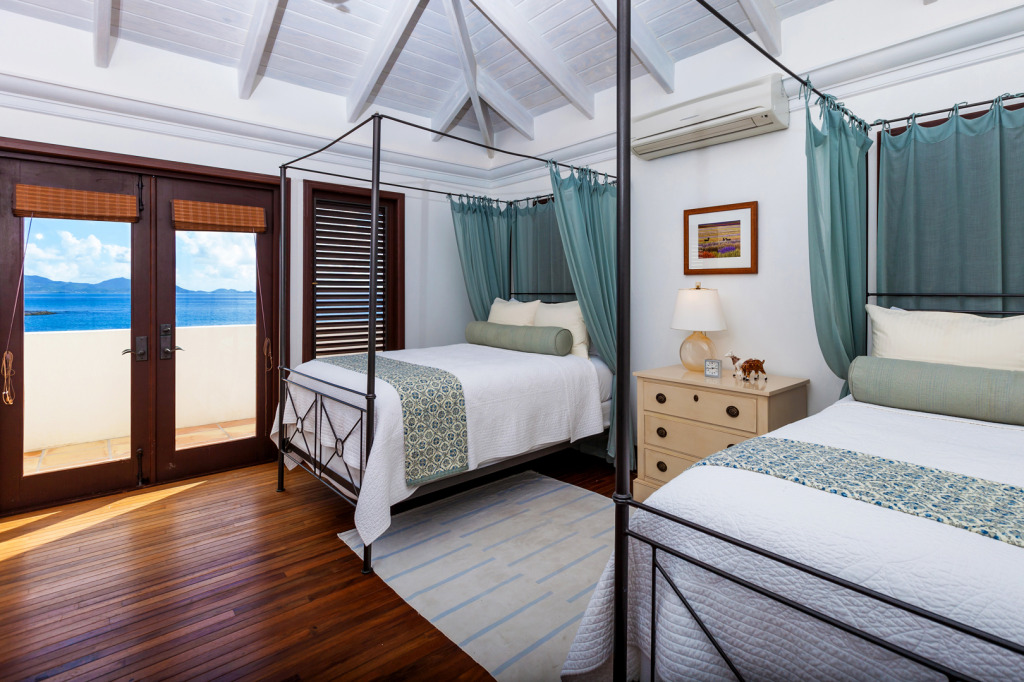 Anguilla VIlla Alegria 2nd Floor Full Bedroom
