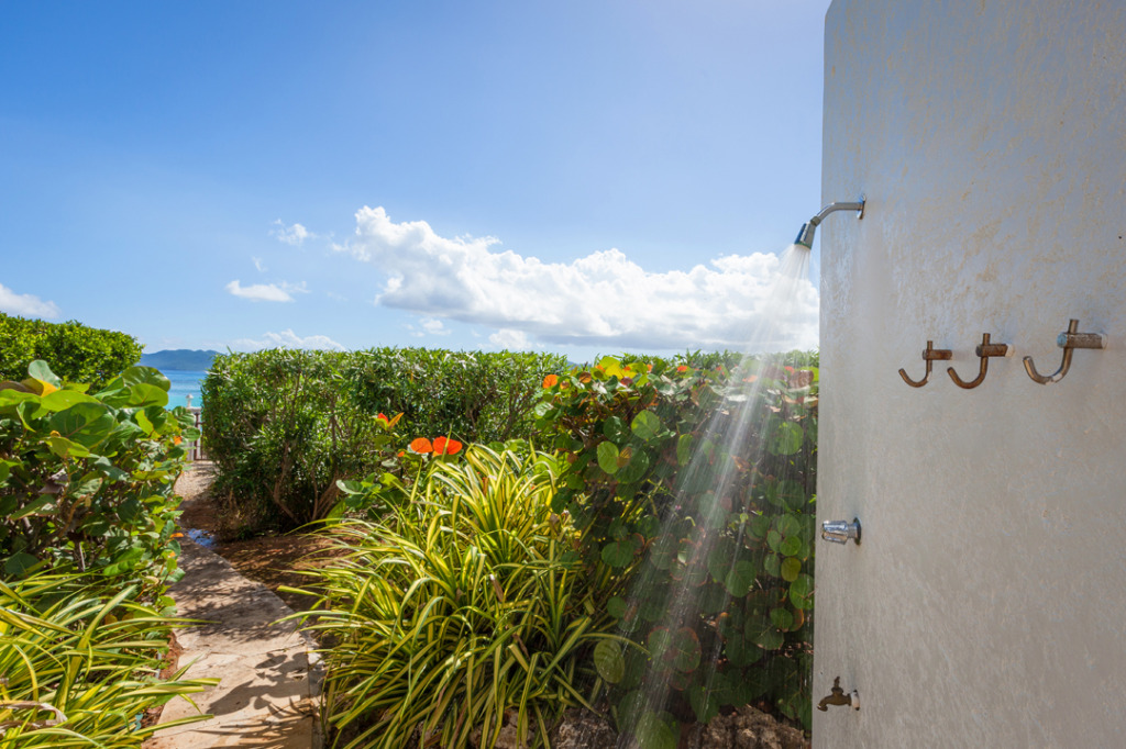 Anguilla Villa Alegria Outdoor Shower