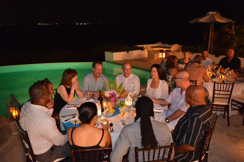 Events Guests Dinner at Villa Alegria Anguilla